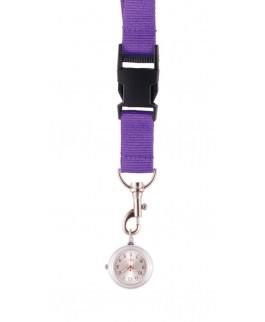 Schlüsselband Uhr Purpur NurseXL