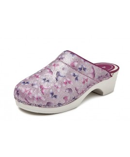 LAST CHANCE: size 39 Bighorn Butterfly Pink PU