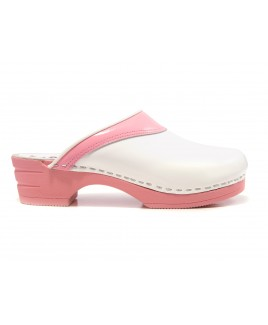 LAST CHANCE size 37 Moofs Pink and White