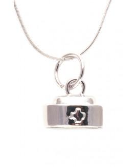 Halskette Schwesternhaube Silber