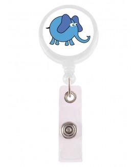 Ausweis-Jojo Elefant Blau