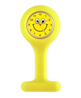 Silikon Schwesternuhr Gelb Happy Face