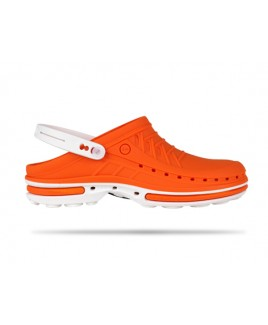 Wock Clog 05 Weiss / Orange